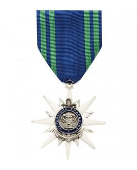 Médaille Chevalier de l'Ordre National du Mérite Maritime Bronze Argenté