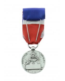 Médaille 20 ans Honneur du Travail Modèle Fantaisie Bronze Argenté