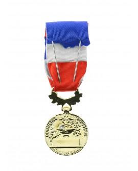 Médaille  40 ans Honneur du Travail Modèle Officiel Vermeil