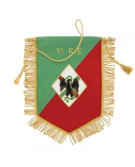 Fanion Cannetille Souvenir 1er R.E