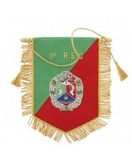 Fanion Cannetille Souvenir 1er R.E.C