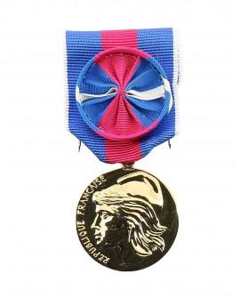 Médaille Service Militaire Volontaire (SMV) Bronze Doré