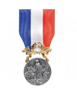 Médaille Honneur pour Acte de Courage et Dévouement  1ère classe Bronze Argenté