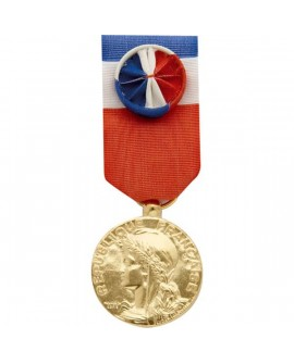 Médaille 30 ans Honneur du Travail Modèle Fantaisie Bronze Doré