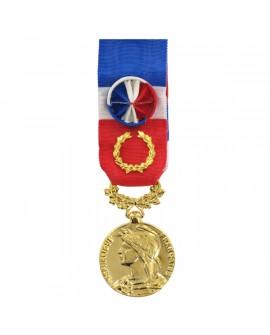 Médaille 40 ans Honneur du Travail Modèle Fantaisie Bronze Doré