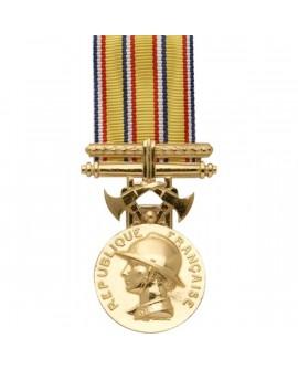 Médaille 25 ans Honneur des Sapeurs Pompiers Vermeil