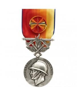 Médaille Honneur des Sapeurs Pompiers Services Exceptionnels Argent
