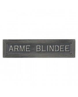 Agrafe Armée Blindée Armée de Terre Argent
