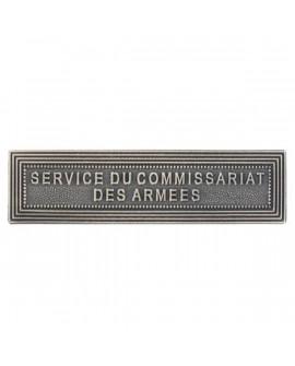 Agrafe Service du Commissariat des Armées  Argent