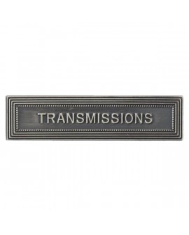 Agrafe Transmission Armée de Terre Argent
