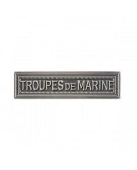 Agrafe Troupes de Marine Armée de Terre Argent