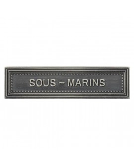 Agrafe Sous Marins Marine Nationale Argent