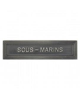 Agrafe Sous Marins Marine Nationale Argent