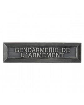 Agrafe Gendarmerie de l'armement Argent