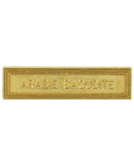 Agrafe Arabie Saoudite Or