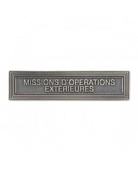 Agrafe Missions Opérations Extérieures Argent