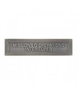 Agrafe Missions Opérations Intérieures Argent