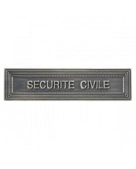 Agrafe Sécurité Civile Argent