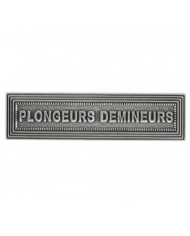 Agrafe Plongeur Démineur Argent