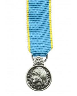 Médaille Honneur Jeunesse et Sports Bronze Argenté