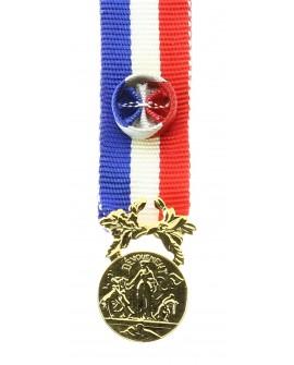 Médaille Honneur pour Acte de Courage et Dévouement  Or Bronze Doré