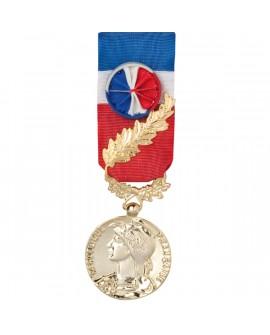 Médaille 35 ans Honneur du Travail Modèle Fantaisie Bronze Doré