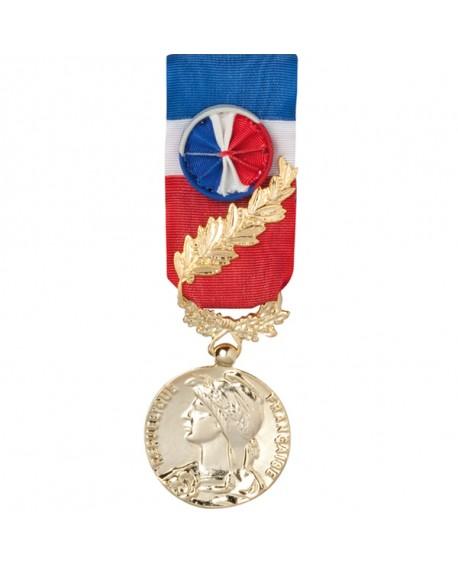 Medaille 35 Ans Honneur Du Travail Modele Fantaisie Bronze Dore