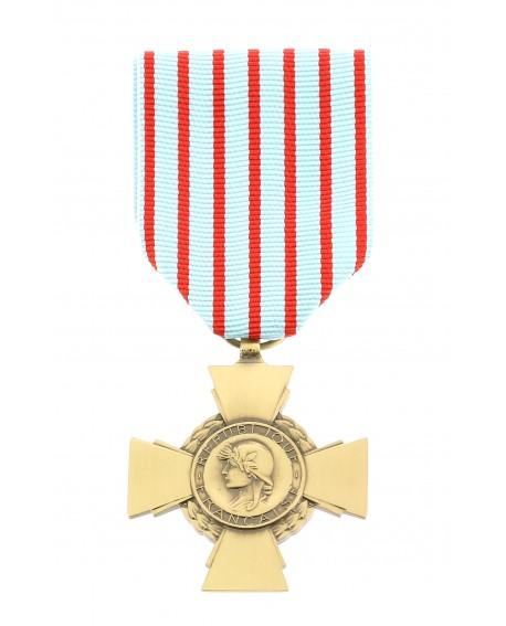 Médaille Croix du Combattant patiné