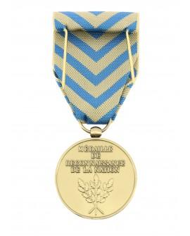 Médaille Reconnaissance de la Nation patiné