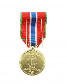 Médaille Prisonnier Civil Bronze Argenté
